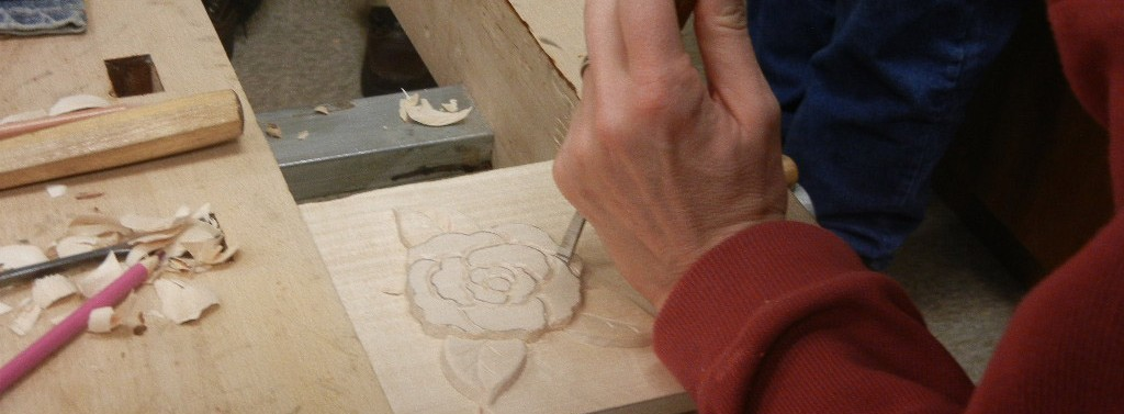 Photo showing carving technique